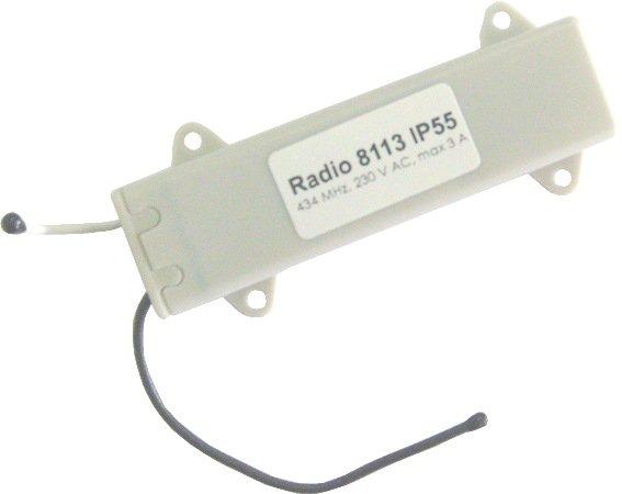 Радиоуправление одноканальное Radio 8113 IP55 в короб рольставен