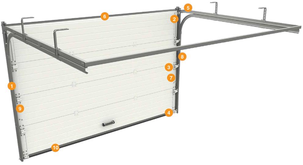 Ворота гаражные секционные серии RSD01