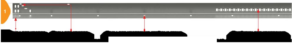Угловые стойки на гаражные ворота серии RSD01