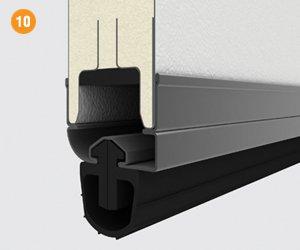 Стальной профиль и резиновый уплотнитель ворот серии RSD01