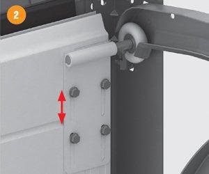 Боковые роликовые опоры ворот серии RSD01